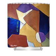 Abstract Square  Shower Curtain