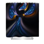 Abstract Stained Glass Angel Shower Curtain
