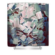 Abstract Stone Chaos Shower Curtain