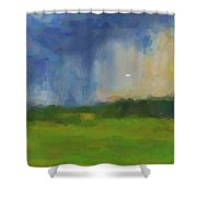 Abstract Stormy Landscape Shower Curtain
