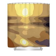 Abstract Sunset 34 Shower Curtain