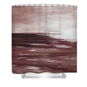 Abstract Sunset In Brown Reds Shower Curtain