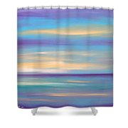 Abstract Sunset In Purple Blue And Yellow Shower Curtain