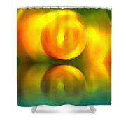 Abstract Sunset Reflection Shower Curtain