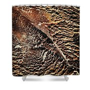 Abstract Surface Bumpy Stone Shower Curtain
