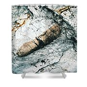 Abstract Surface Limestone With Rocks Shower Curtain