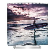 Abstract Surfer Shower Curtain