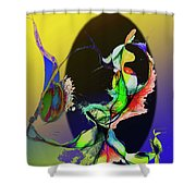 Abstract Tarot Card The Lovers Shower Curtain