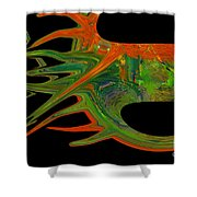 Abstract Tenticles Shower Curtain