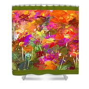 Abstract Thought Processes Shower Curtain