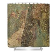 Abstract Three Shower Curtain