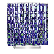 Abstract Time Shower Curtain