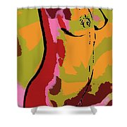 Abstract Torso Shower Curtain