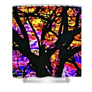 Abstract Tree 304 Shower Curtain