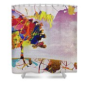 Abstract Tree 33w Shower Curtain