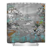 Abstract Tree Art 1 Shower Curtain