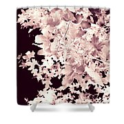 Abstract Tree Landscape Dark Botanical Art Rose Tinted Shower Curtain