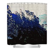 Abstract Trees 8 Shower Curtain