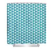 Abstract Turquoise Pattern 1 Shower Curtain