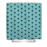 Abstract Turquoise Pattern 2 Shower Curtain