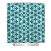 Abstract Turquoise Pattern 3 Shower Curtain