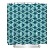 Abstract Turquoise Pattern 4 Shower Curtain