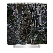 Abstract Twisted Tree Shower Curtain