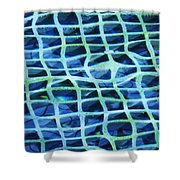 Abstract Underwater Shower Curtain