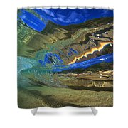 Abstract Underwater View Shower Curtain