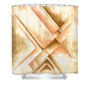Abstract Unique Original Painting Contemporary Art Champagne Dreams I By Madart Shower Curtain