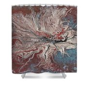 Abstract Vi Wr Shower Curtain