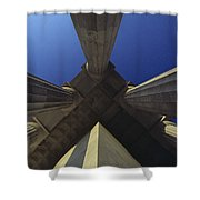 Abstract View Of Columns Of Lincoln Shower Curtain