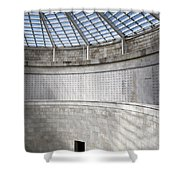 Abstract View Of The Central Tower Door With Skylight And Names  Shower Curtain