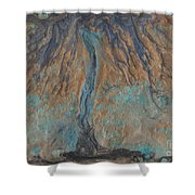 Abstract Vii Wr Shower Curtain