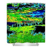 Abstract Vista Shower Curtain