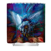 Abstract Visual Shower Curtain