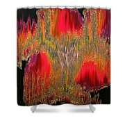 Abstract Visuals - The Sizzle Factor Shower Curtain