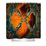 Abstract Visuals - Restructured Interior Shower Curtain
