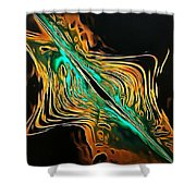 Abstract Visuals - A Tear In The Fabric Of Time Shower Curtain