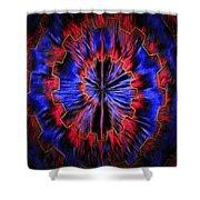Abstract Visuals - Quantum Mechanical Headache Shower Curtain