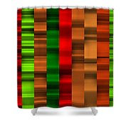 Abstract W-1 Colorist-2 Shower Curtain