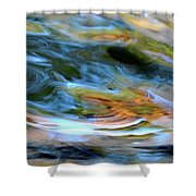 abstract water 2309DB Shower Curtain
