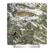 Abstract Water Art Vi Shower Curtain