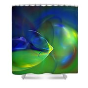 Abstract Water World 040411 Shower Curtain
