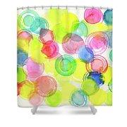 Abstract Watercolor Circles Shower Curtain