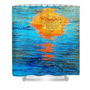 Abstract Watery Sunset Shower Curtain