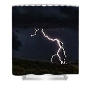 Abstract Wicked Lightning 5 Shower Curtain
