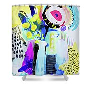 Abstract Wild Flowers Shower Curtain
