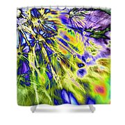 Abstract Wildflower 5 Shower Curtain