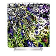 Abstract Wildflower 6 Shower Curtain